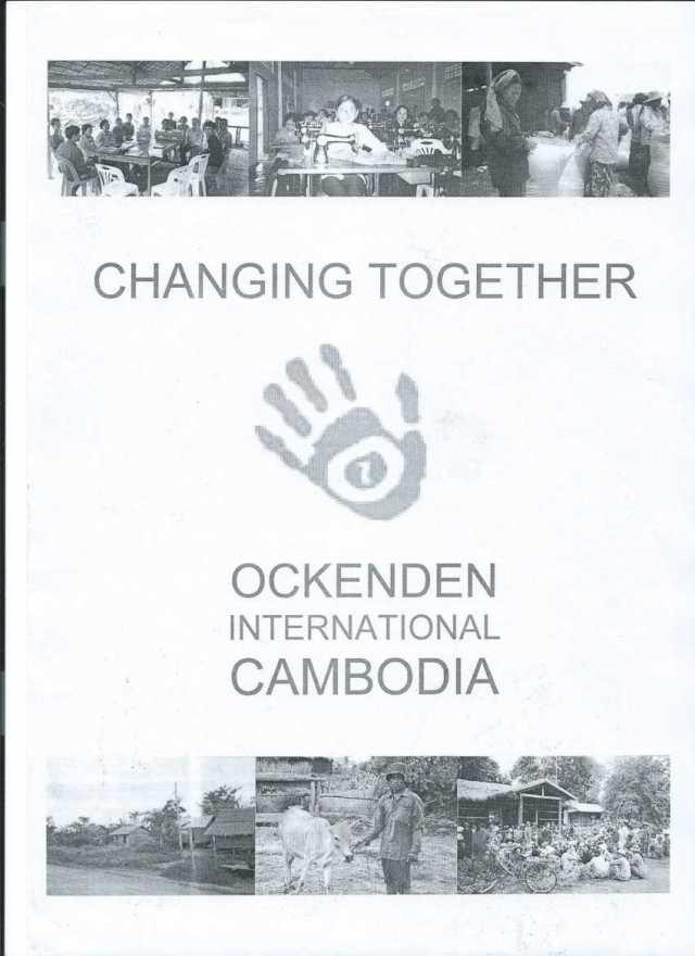 cover of brochure for Ockenden International Cambodia