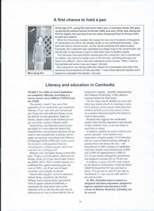 Literacy and education in Cambodia