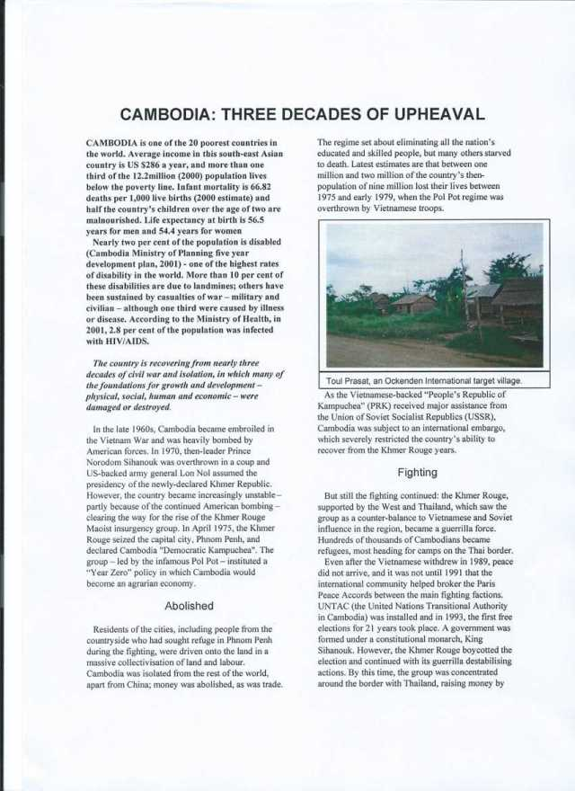 Cambodia: 3 decades of upheaval