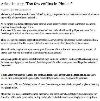 tsunami Phuket Boxing-Day 26-December-2004
